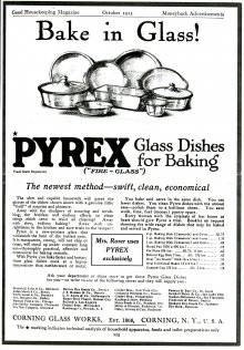 The first Corning advertisement for Pyrex .