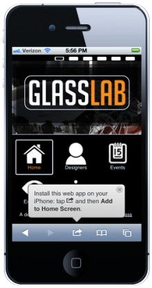 Saving the GlassLab web app to your mobile device