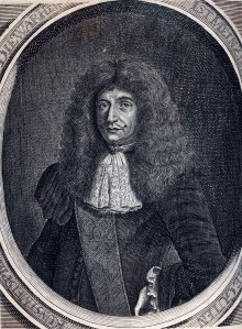 Fig. 1. Portrait of Johann Kunckel, frontispiece of Kunckel 1689. Rakow Library Bib No. 81288.