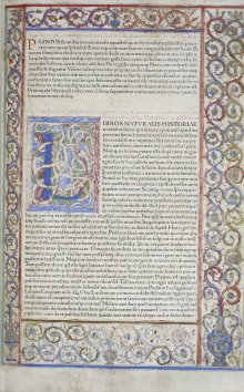 Pliny, the Elder, Historia naturalis, First printed edition published by Johannes de Spira, Venice, 1469. CMGL 84191.