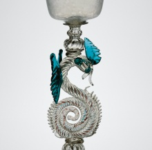 Detail of Dragon-stem goblet
