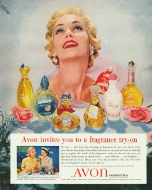 Advertisement for Avon Cosmetics