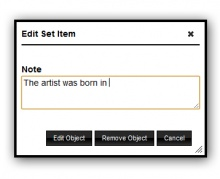 add notes to your collection set