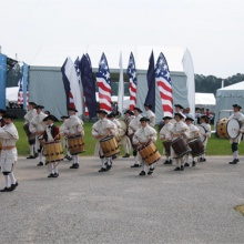 Fife and Drums marching during America's 400th Anniversary