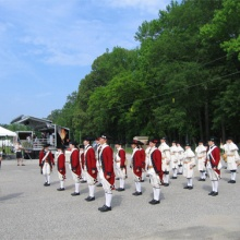 Fife and Drums in formation for America's 400th Anniversary