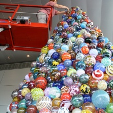 Glass ornament tree at the Corning Museum of Glass