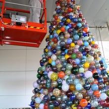 Attaching the last ornament!