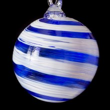 Holiday Open House glass ornament