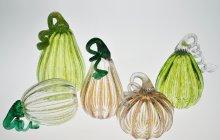 Blown glass pumpkins and gourds