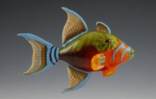Queen Triggerfish by Kim Fields
