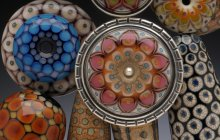 Collection of Floral Disk Beads, 2014 by Kristina Logan