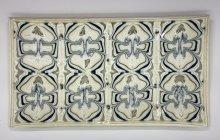 Plate of fused glass murrini by Janet Dalecki