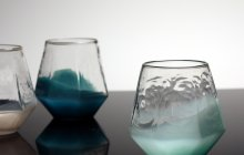 Seven-Sided Cup, mold blown glass by Jessi Moore