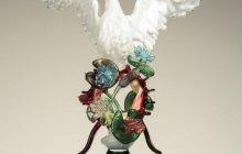 swan glass sculpture