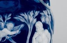 Detail of a portland vase replica