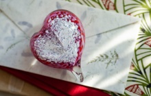 Make Your Own Glass Heart Paperweight