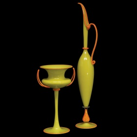 Chartreuse Pair by Dante Marioni