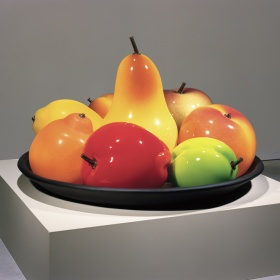 Still Life with Two Plums by Flora Mace and Joey Kirkpatrick