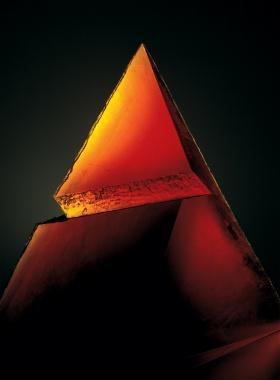 Red Pyramid by Stanislav Libenský and Jaroslava Brychtová