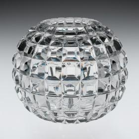 Cut Rose Globe by Mt. Washington Glass Company