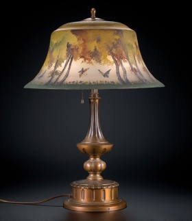 Butterfly Table Lamp by Pairpoint Corporation