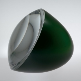 Half-Green Egg with Optical Lens by Václav Cigler