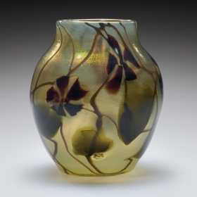Paperweight vase with applied decoration by Tiffany Furnaces