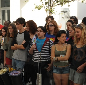 DASH students at GlassLab Art Basel Miami
