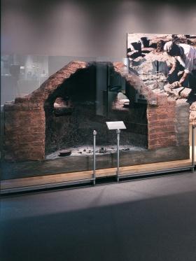 Ancient Egyptian glass furnace