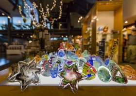 Glass items in the gift shop