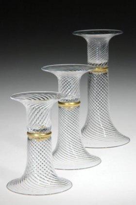 Three Candlesticks by William Gudenrath