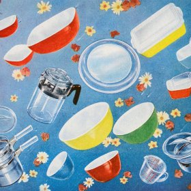 A shower of Pyrex dishes