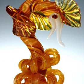 Orange glass dragon with yellow wings