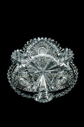 """Plate Cut in """"Wedgemere"""" Pattern by Libbey Glass Company, about 1891-1895."""