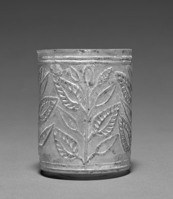 Unknown Leaf Beaker, 1st century A.D., Glass 7.3 × 6.4 cm (2 7/8 × 2 1/2 in.) The J. Paul Getty Museum, Los Angeles