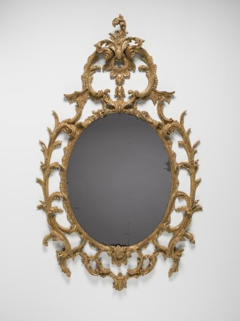 Mirror in gilded wood frame