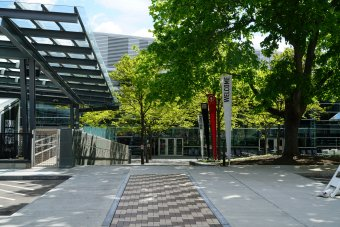 Corning Museum of Glass Courtyard Entrance