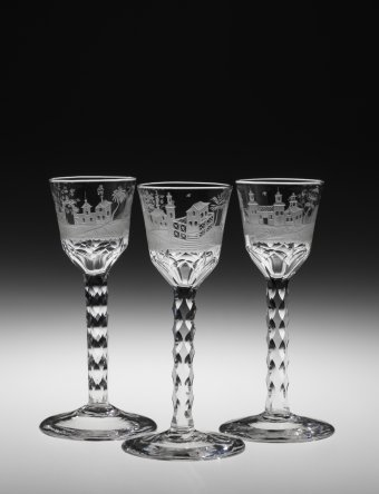 Wine or cordial glasses