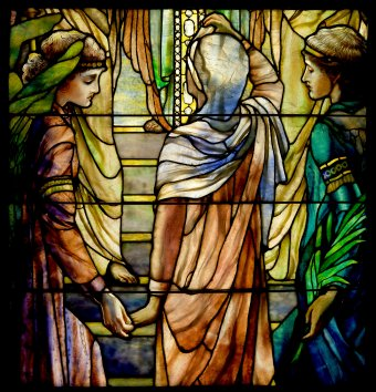The Righteous Shall Receive a Crown of Glory detail 1 - Frederick Wilson for Louis Comfort Tiffany
