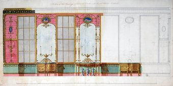Designs for the walls of the drawing room at Northumberland House