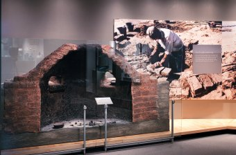 Ancient furnace in Corning Museum of Glass gallery