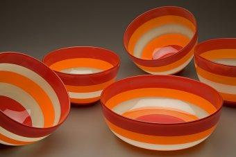 Striped Bowls by Boyd Sugiki