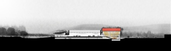 Rendering section of The Corning Museum of Glass North Wing Expansion