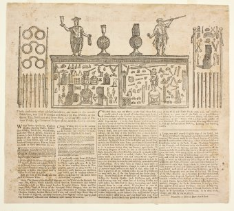 """George Willdey's Great toy spectacle and print shop,"" George Willdey, London, c. 1726-1728. CMGL 146190."