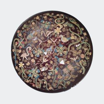 Hemispherical Bowl with Inlaid Nilotic Scene