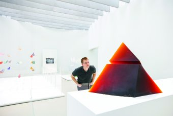 Red Pyramid in the Contemporary Art + Design Wing
