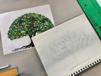 Tree of Life Menorah Design
