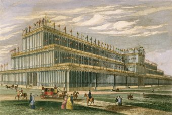 Fig. 8: Watercolor design for the Crystal Palace, London. Joseph Paxton, 1850. Juliette K. and Leonard S. Rakow Research Library.