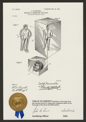 Method of Preserving the Dead. Joseph Karwowski (born Russia, dates unknown), Washington, D.C.: United States Patent Office, 1903 (2016). CMGL 166896.