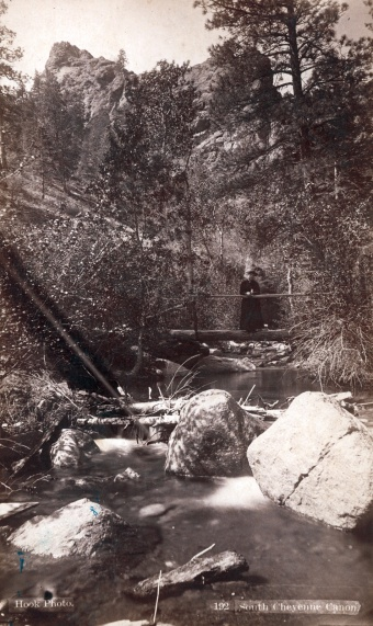 Figure 8. South Cheyenne Canyon, photographed by W. E. Hook, Colorado Springs. Rakow Research Library Bib ID 95858.